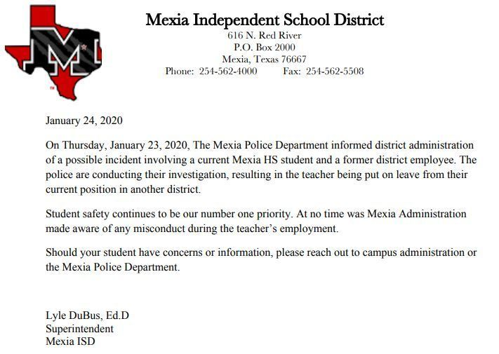 Note From Superintendent